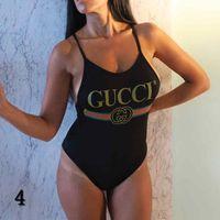 bademoden tanga klar groihandel-Sommer-Frauen-Bikini-Satz mit G Buchstaben der neuen Marken-Badebekleidungs-Badeanzug einteiligen Anzug für Frauen-reizvolle Backless Bademode S-XL Hot Sale # 4