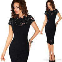 Wholesale green cap la for sale - Group buy Vfemage Mujeres Elegante Sexy Crochet Hollow Out Party Pinup Vestido de Noche Para Ocasiones Especiales Vestidos de La Envoltura Equipada