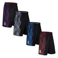 шорты мужские бег трусцой оптовых-Men's Running shorts gym fitness shorts Basketball jogging workout male Knee Length Breathable Mesh Sweatpants