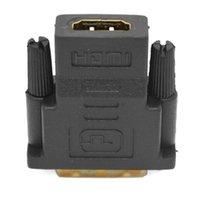 hdmi tv anschluss groihandel-HDMI-auf-DVI-Stecker 24 + 1 Adapter Vergoldet HD 1080P-Anschluss Monitor-TV-Projektor HD-Anschluss