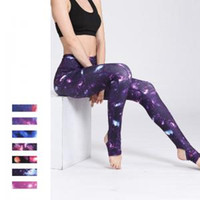 Wholesale ladies yoga pants wholesale online - 7styles Starry yoga Pants printed sport pants Ladies Fitness Leggings Running Gym Exercise Sports Trousers yoga outfits FFA1571
