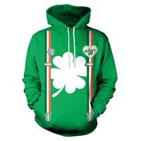 ingrosso maglione del dhl-Felpe con cappuccio St.Patrick's Day nuovo marchio coppia maglione cappotto tasche sottili allentate moda uomo e donna DHL B101-048