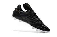 ingrosso le migliori borse in pelle-Scarpe da calcio in pelle di qualità migliore 2019 Copa Mundial FG scarpe da calcio da uomo Copa Mundial Soccer Cleats nero all'aperto