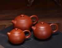 Wholesale zisha yixing teapots for sale - Group buy Yixing Xishi Teapot Zisha Teapot Purple Clay Teapot Handmade Kung Fu Teaset