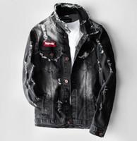 ingrosso giacca da uomo maschile coreana-Nuova giacca in denim primavera 2019 maschio versione coreana della giacca maschile denim giacca popolare colore auto-coltivazione popolare