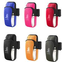 nylonarmabdeckungen großhandel-Arm Packs Outdoor Laufen Arme Gürtel Abdeckung Smartphone Tasche Camping Ausrüstung Hochwertiges Nylon Oxford 5 2yq O1