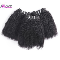 Wholesale afro human hair weave resale online - Brazilian Human Hair Bundles Peruvian Indian Hair Extensions Body Loose Deep Wave Afro Kinky Curly Hair Weft Straight