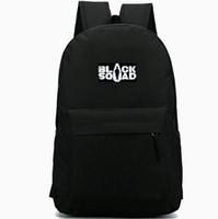 Wholesale free boy girl games for sale - Group buy Black Squad backpack daypack Neowiz schoolbag Game badge rucksack Sport school bag Outdoor day pack