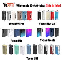 uni yocan venda por atacado-[1PC] Original Yocan UNI Pro Wit Hive 2,0 Groote Box Mod Vape Pen E Kit Cigarette Wax Vape Pen Fit All Vape Cartridge