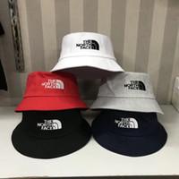 geniş şapkalı golf şapkaları kadınlar toptan satış-Seyahat Balıkçı Eğlence Kova Şapka Düz Renk Moda Erkek Kadın Düz Üst Geniş Ağız Yaz Kap Açık Spor Vizör Için