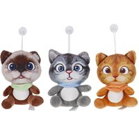 koltuk bebeği toptan satış-1 adet 20 cm Çocuk Oyuncakları Kız Hediyeler 3D Peluş Kedi Oyuncaklar Mini Sevimli SoftStuffed Hayvanlar Koltuk Kanepe Yastık Minder Karikatür Kedi Doll