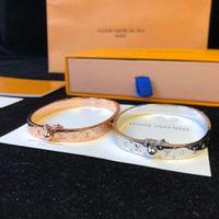 Wholesale gold rivet bangle resale online - Designer Bracelets Men and Women Bracelets Rivets with Luxury Fashion Accessories Round Ornaments Gold and Silver