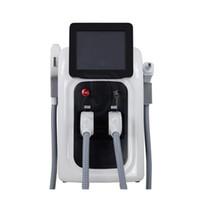 yag laser profesional al por mayor-Máquina profesional de depilación láser OPT SHR IPL Eliminación de tatuajes con láser Nd Yag Elight Rejuvenecimiento de la piel Máquina de láser alejandrita