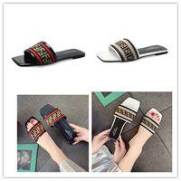 ingrosso guanti liberi in lattice nero-FF Lettere Donne Designer Sandalo Estate Marca Gladiatore Ladies Luxury Slide piatto Pantofola Marca Fende PU Panno Spiaggia Outdoor Scarpe C61005