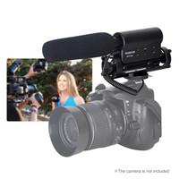 micrófono para grabar al por mayor-Micrófono de Condensador de Fotografía Mini Micrófono de Grabación Entrevista profesional de 3.5mm para Canon Nikon DSLR Camera DV SGC-598