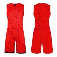 chaleco de baloncesto rojo al por mayor-Red 2020 ropa traje nuevo de baloncesto Adulto formación de los estudiantes de baloncesto transpirable chaleco de alta calidad camiseta de la venta caliente de baloncesto