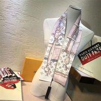 çok amaçlı eşarplar toptan satış-Moda ipek erkek ve kadın saç bandı çok amaçlı ipek çanta dekoratif eşarp marka baskılı eşarp 120 * 8 cm
