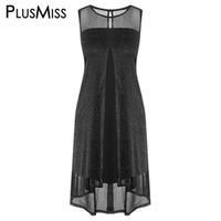 1a1034de Wholesale xxxxl dresses online - Plus Size XXXXXL Sleeveless Sequin Sheer  Tank Dress XXXXL XXXL XXL