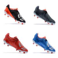 botas de futbol clasicas al por mayor-Nuevo 2020 reeditado Clásicos Predator Mania OG FG Rojo Blanco de plata EDICIÓN LIMITADA Beckham ZZ 1998 zapatos de los hombres Tacos de fútbol botas de fútbol Tamaño