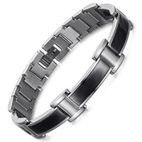 Wholesale germanium infrared bracelet for sale - Group buy Stainless Steel Curved Magnet Bracelet Negative Ion Far Infrared Germanium Bracelet