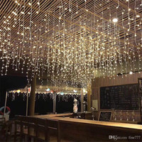 Wholesale led lights for curtains resale online - New Year LED Curtain Icicle String Lights m ft Droop Led Fairy Garland Light For Christmas Outdoor Decoration