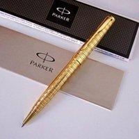 parker sonnet kugelschreiber großhandel-Kostenloser Versand Parker Sonnet Gold Silber Kugelschreiber Metall-Briefpapier-Geschenk-Kugelschreiber des Schreibens Büro-Schule Lieferanten Top-Qualität Business-Stift