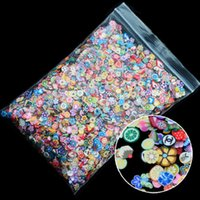 Wholesale nail art tools for sale - Group buy 1000pcs pack Nail Art Fruit Flowers Feather DIY Design Fimo Cane Slices Decoration Acrylic Beauty Polymer Clay Nail Sticker Tool