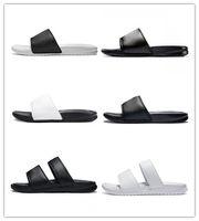 ingrosso i migliori pattini casuali di estate-2019 Mens Designer Scarpe da spiaggia pantofola Fondo pantaloni uomo sandali neri a righe casual antiscivolo estate infradito pantofole MIGLIORI QUALITÀ scarpe