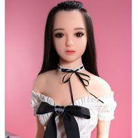 pequena boneca sexy de silicone sólido venda por atacado-165 cm peito pequeno peitos pequenos macios silicone sólido boneca sexual corpo liso magro sexy anime feminino boneca do amor