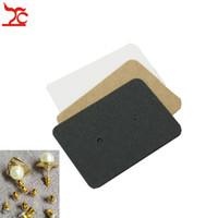 siyah kart boşlukları toptan satış-100 adet Boş Kraft Kağıt Kulak Çiviler Kart Takı Ekran Küpe kart DIY Favor Fiyat Etiket Etiketi Ambalaj Asmak Etiketi Beyaz Siyah Kahverengi