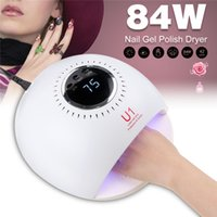 Wholesale removable gel nails resale online - 84W UV Removable LED Nail Dryers Timing Modes for Manicure Gel Nail Lamp Drying Lamp for Gel Varnish Nail Tools
