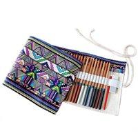 ingrosso artisti forniture-Rifornimenti di scuola creativi manuali del sacchetto della matita del sacchetto della penna di grande capacità per il caso del sacchetto delle matite dell'artista