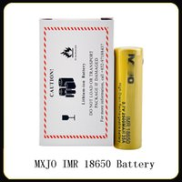 Wholesale electronic imr resale online - High Quality MXJO IMR mAh A Battery yellow high drain rechargeable li lon Vape Electronic cigarette power batteries