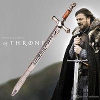 antikes silbernes schwert großhandel-Game of Thrones Schwert Vintage Antik Silber Brieföffner Schwert Handwerk Lied von Eis und Feuer Waffe Sammler Schmuck