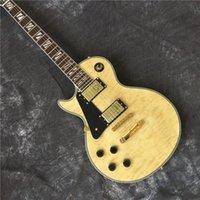 Wholesale left handed guitars for sale - Group buy custom electric guitar left hand LP guitar large log color Good sound quality