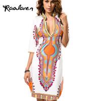 Wholesale plus size hippie clothing resale online - Fashion Raodaren Plus Size African Clothes Dashiki Dress for Women Casual Summer Hippie Print Dashiki Fabric Femme Boho Robe Femme