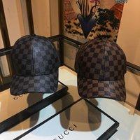 l gorras de cuero al por mayor-Gorra casquette sombrero diseñador sombrero icono diseñador gorra L v cuero gorra 2019 accesorios de lujo
