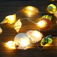 Wholesale Mediterranean Style LED Natural Sea Shell Conch Handmade Creative Diy s USB Led s Room Decoration