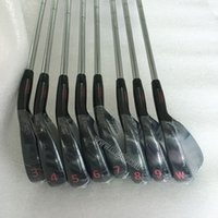 Wholesale New Golf irons Set X Golf Clubs w black with irons Golf shaft and Steel Shaft clubs Set DHL