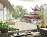 Wholesale wall art painting canvas chinese for sale - Group buy 3d wallpaper custom photo mural Chinese landscape painting D background wall home decor wall art pictures wall art canvas pictures