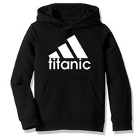 ropa titánica al por mayor-Fleece con capucha para niños sudaderas Titanic Parodia regalo ropa informal