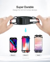 iphone berg großhandel-Fahrrad handyhalter silikon weiche fahrrad lenker clip ständer gps halterung für iphone samsung mountain motor 5.5 6.0