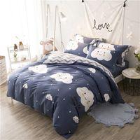 çocuklar için kraliçe yatak toptan satış-% 100% Pamuk Çocuklar Ikiz Tam Kraliçe kral yatak takımları nevresim yatak seti yatak örtüsü 160X200 cm Çarşaf seti parure de yaktı