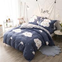 kinder in voller größe bettwäsche-sets großhandel-100% Baumwolle Kids Twin Queen-Size-Bettbezug-Bettbezug-Bettbezug 160X200cm Spannbetttuch-Set parure de lit