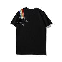 camiseta de lujo para hombre al por mayor-Verano para hombre camisetas de diseño de lujo camiseta con patrones de marca para hombre camisetas de manga corta para hombre top clothing s-2xl al por mayor