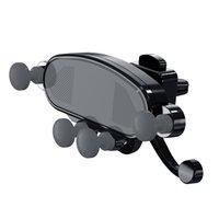 verriegelungsbügel großhandel-Schwerkraftsperre Autohalterungen im Auto Entlüftungsklammer Armaturenbretthalterungen Kein magnetischer Handyhalter Handyhalter Halterung für iPhone Samsung