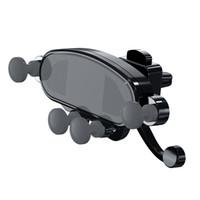 clipe de ventilação do telefone celular venda por atacado-Titulares de carro fechadura gravidade no painel de ventilação do carro ar clipe clipe monta nenhum suporte de telefone celular magnética celular suporte de suporte suporte para iphone samsung