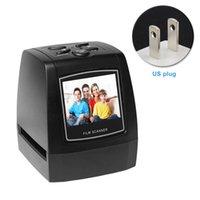scanner de cartão usb portátil venda por atacado-Portátil Conversor JPEG Professional Film Scanner Display LCD Quick Home Office Alta Resolução Cartão Suporte Lanterna Slide