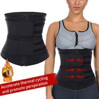 ingrosso cinture di cinture-Cinturino sottile per cintura da donna con cerniera, cintura da allenamento, cintura per il sudore