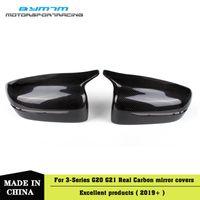 замена заднего зеркала оптовых-Реальные углеродного волокна стороне двери замена заднего крыла зеркало крышки для 3 серии G20 G21